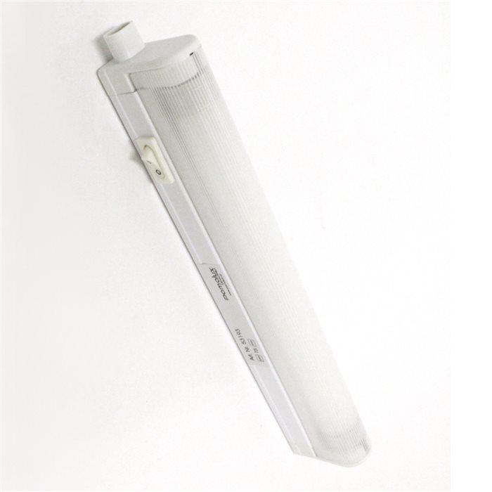 Lampenlux T5 Unterbauleuchte Macky Unterbaulampe Wandlampe Wandleuchte Küchenlampe Küchenleuchte Aufbaulampe Schalter 150cm Grau 230V