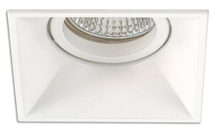 Lampenlux LED-Einbaustrahler Einbauleuchte Spot SAMI 8x8cm weiss eckig rostfrei Aluminium