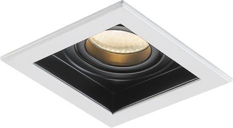 Lampenlux LED-Einbaustrahler Spot Scout eckig schwarz dreh- und schwenkbar 10.6x10.6cm Einbauleuchte Einbaulampe Einbauspot Spot Strahler Punktstrahler Aluminium Downlight Down Deckeneinbaustrahler Deckeneinbauleuchte