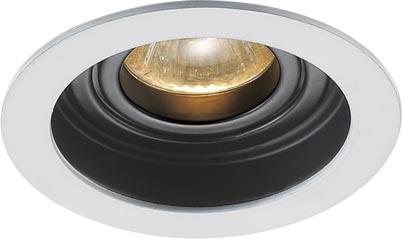 Lampenlux Einbaustrahler Spot Sandi rund weiß schwarz dreh- und schwenkbar Ø10.2cm Einbauleuchte Einbaulampe Einbauspot Spot Strahler Punktstrahler Aluminium Downlight Down Deckeneinbaustrahler Deckeneinbauleuchte