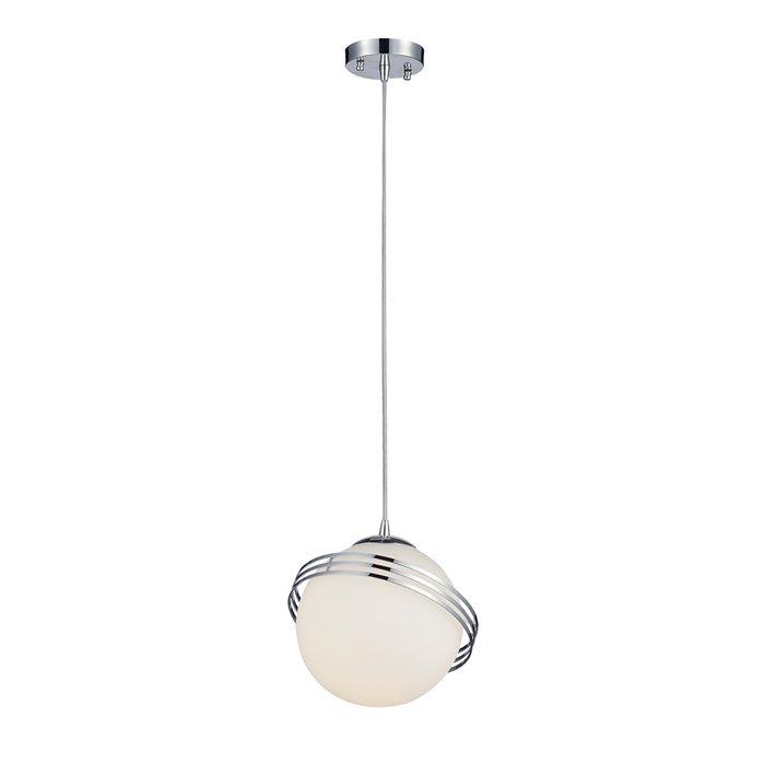 Lampenlux LED Pendelleuchte Balko Hängeleuchte Glas Opal Weiß Kugellampe Ring