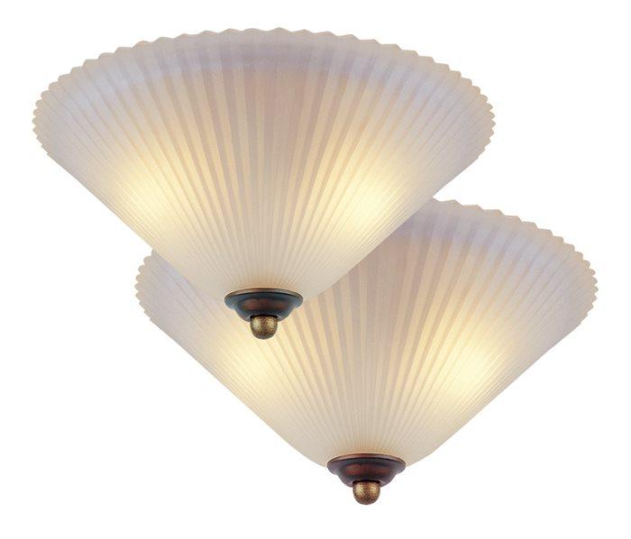 Lampenlux Deckenlampe Leuchte Zonk Antik Klassisch Grün-Bronze oder Rost-Braun 2xE27