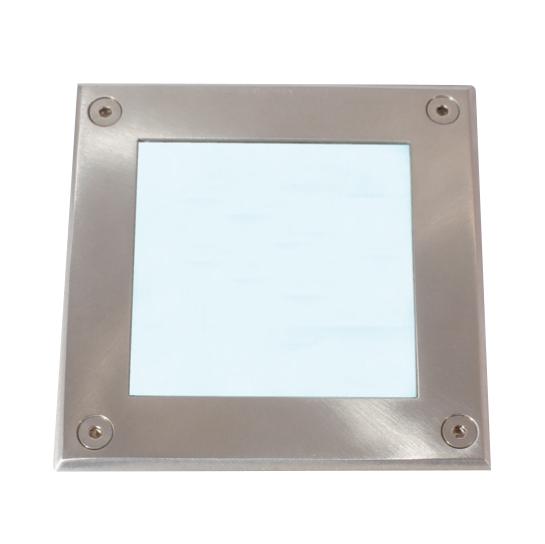 Lampenlux LED Bodeneinbaustrahler Tudor IP67 230V Außenleuchte Eckig Edelstahl 12cm