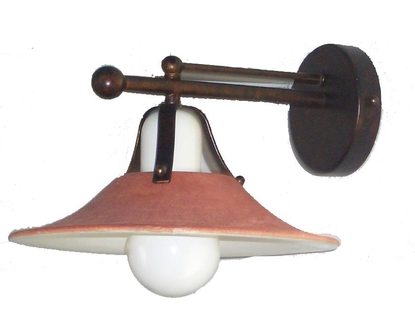 Lampenlux Wandlampe Wandleuchte Antices Keramikschirm braun E27 60W 230V