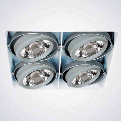 Lampenlux Einbaustrahler-Fassung Deckeneinbaufassung Deckendownlight Mulas 4x CDM-R 111 weiß 35W 230V