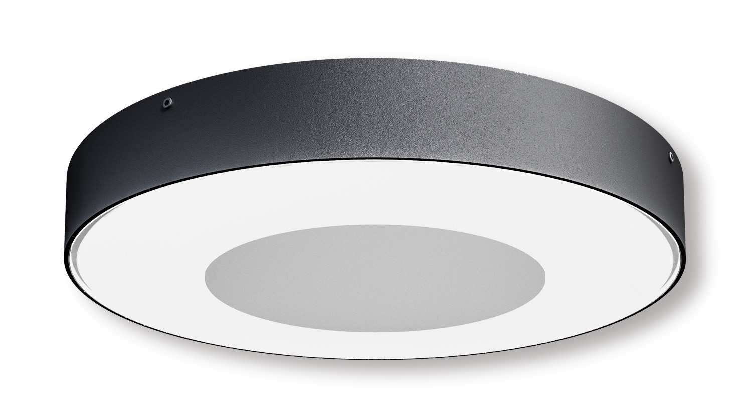 Lampenlux Außenleuchte Negro Aluminium Schwarz 2500lm 25W LED IP54 Ø27cm