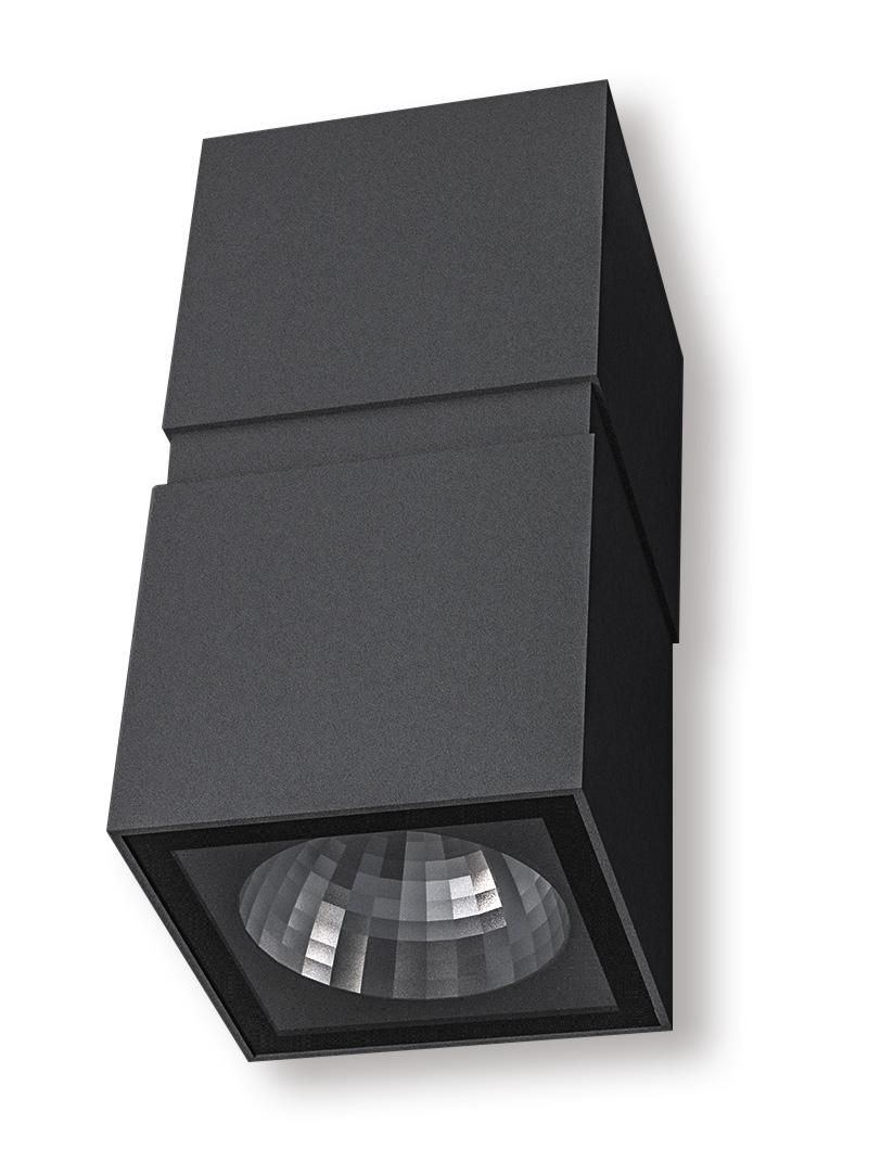 Lampenlux Außenleuchte Djamila Aluminium Schwarz 1600lm 2x10W LED 3000K IP65
