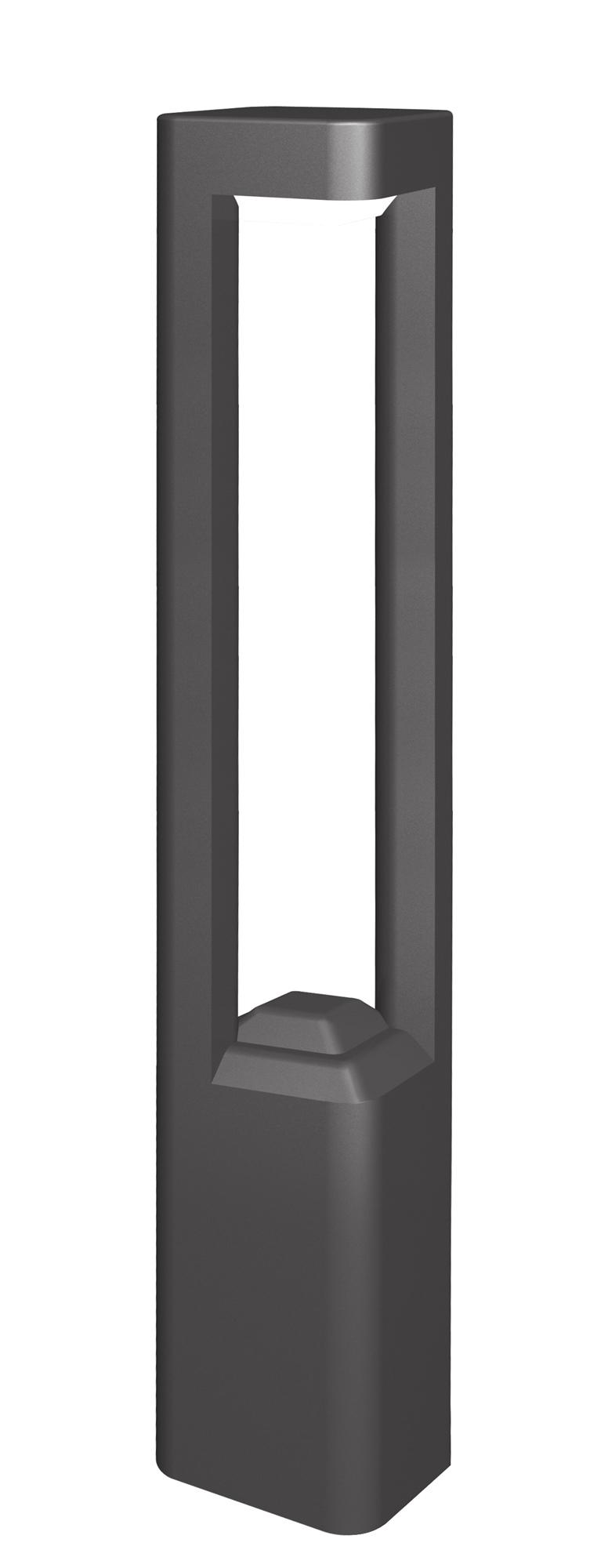 Lampenlux LED Außenleuchte Faustino Aluminium Schwarz 60W LED 500lm 3000K IP54 Ø12cm