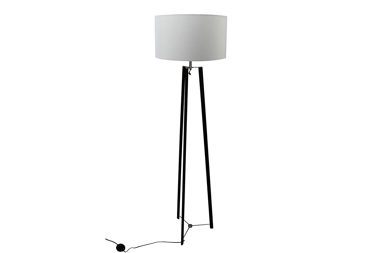 Lampenlux Tischlampe Sanzur Stoffleuchte E27 60W Stehleuchte LED