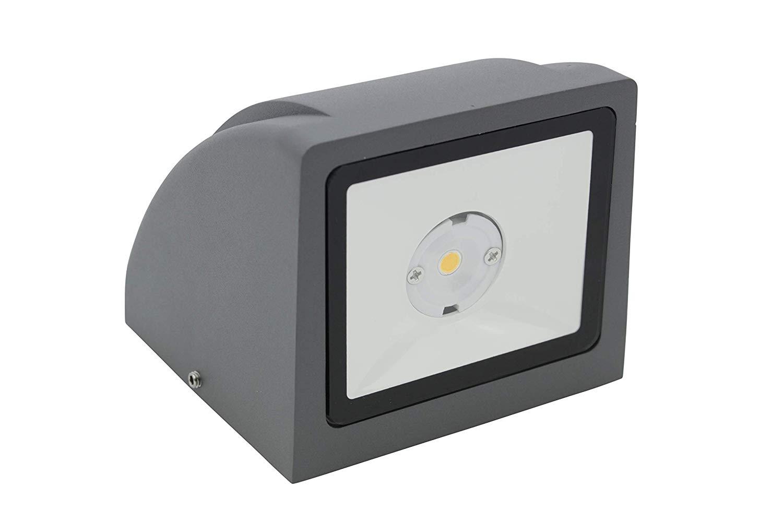 Lampenlux Außenleuchte Julio Aluminium Grau 7,5W 580lm LED Wandleuchte 3000K IP65