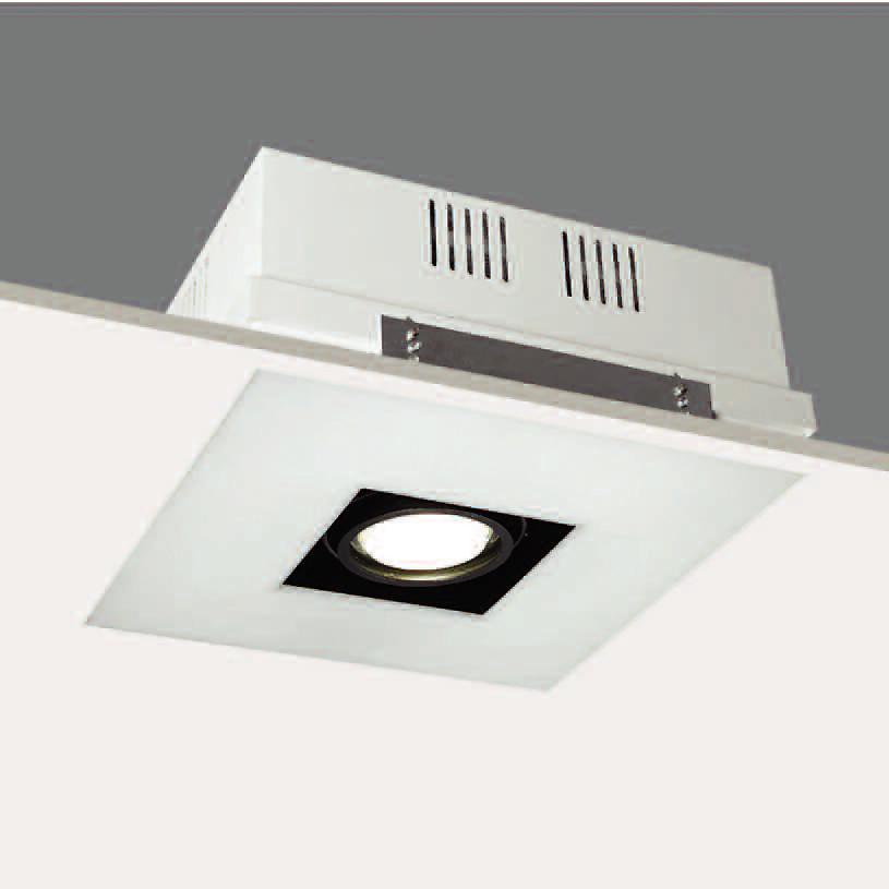 Lampenlux Einbaustrahler Spot Riwald weiß Aluminiumguss rostfrei 379 x 379mm