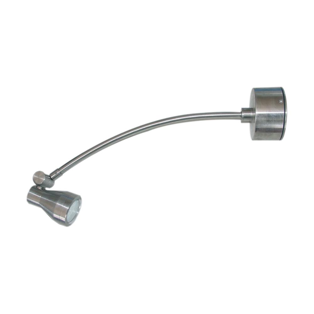 Lampenlux Aufbaustrahler Francis 12V max. 50W Nickel Gebürstet B-Ware IP44