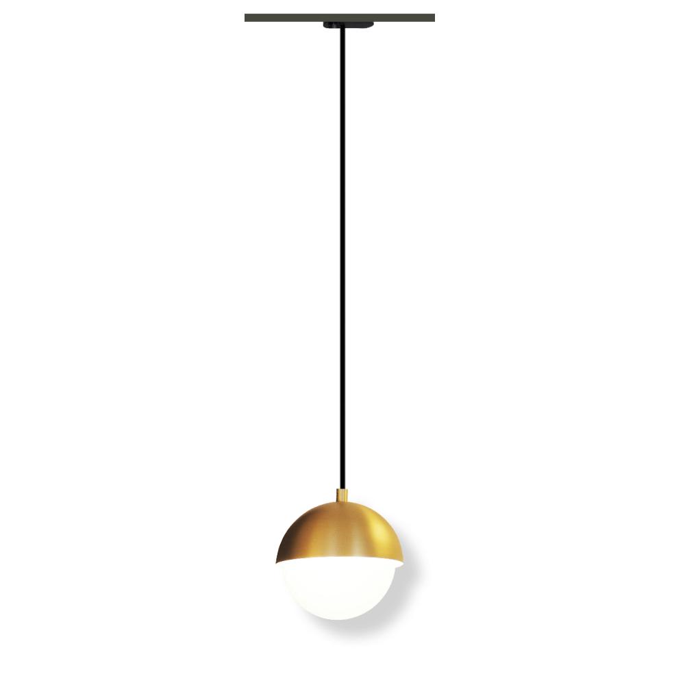 Lampenlux LED Hängeleuchte Kyra passend für 1-Phasen Schienensystem mit Stoffkabel 5W Ø140mm