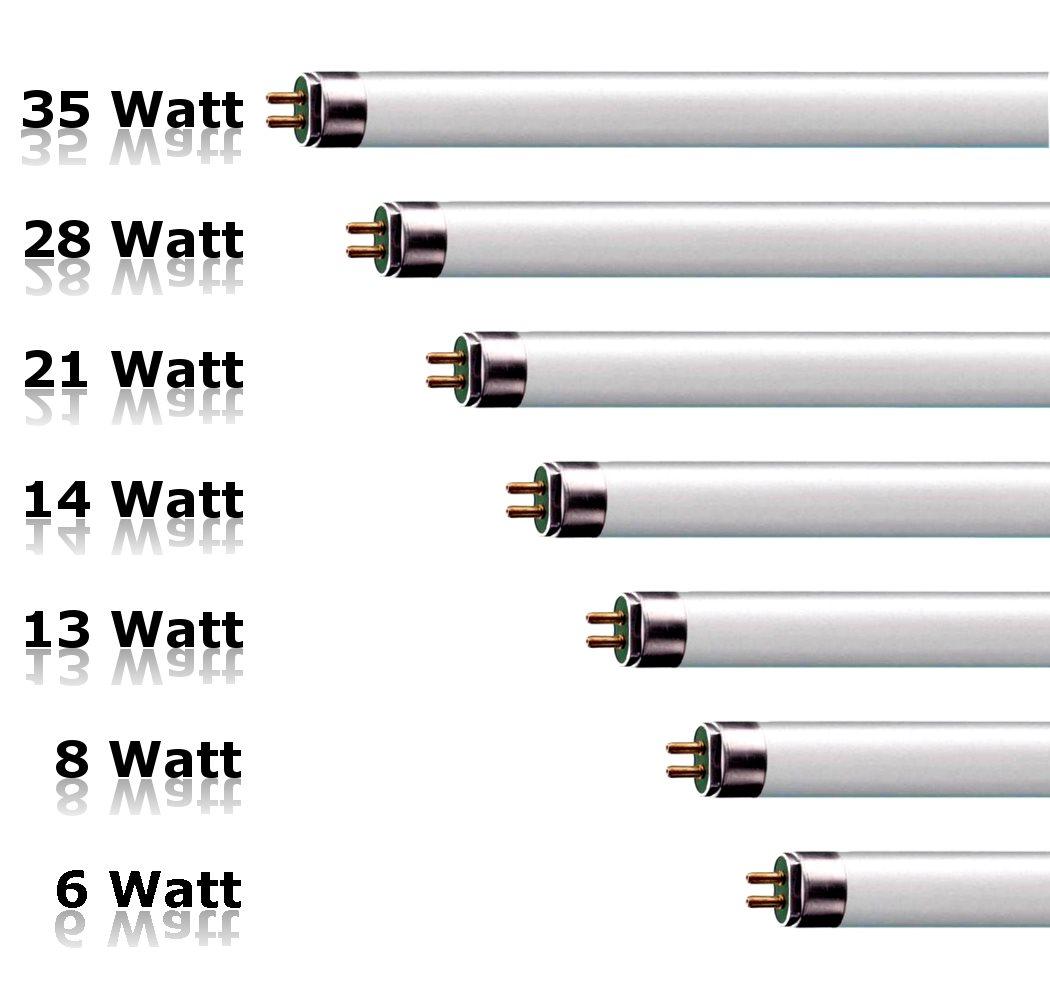 Lampenlux T5 Leuchtstoffröhre Zilo 6-35W Energiesparlampe Leuchtmittel