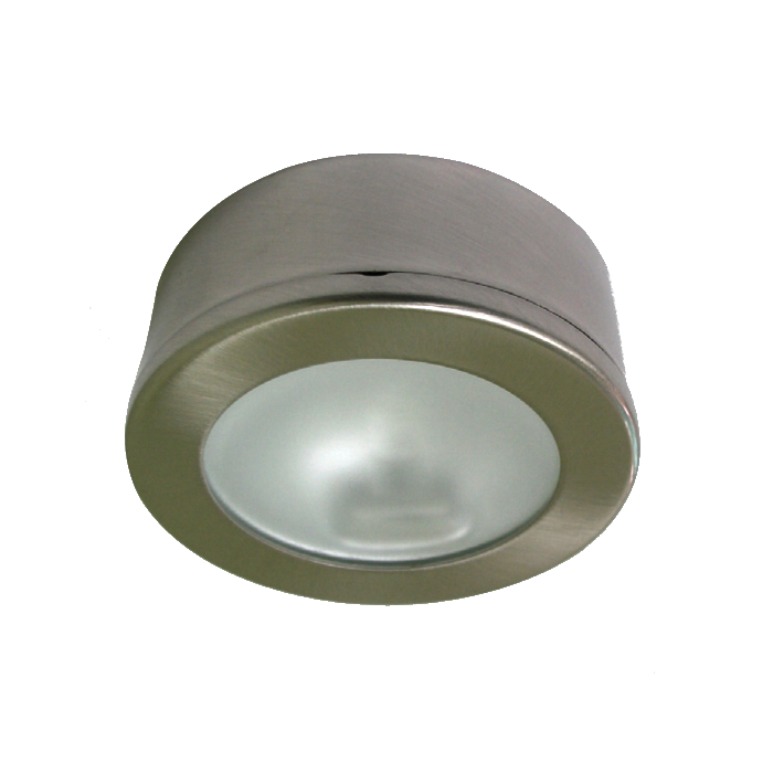 Lampenlux Aufbaustrahler Aufbauspot Kabou rund Nickel Ø8.0cm Höhe: 3.0cm 12V G4 rostfrei
