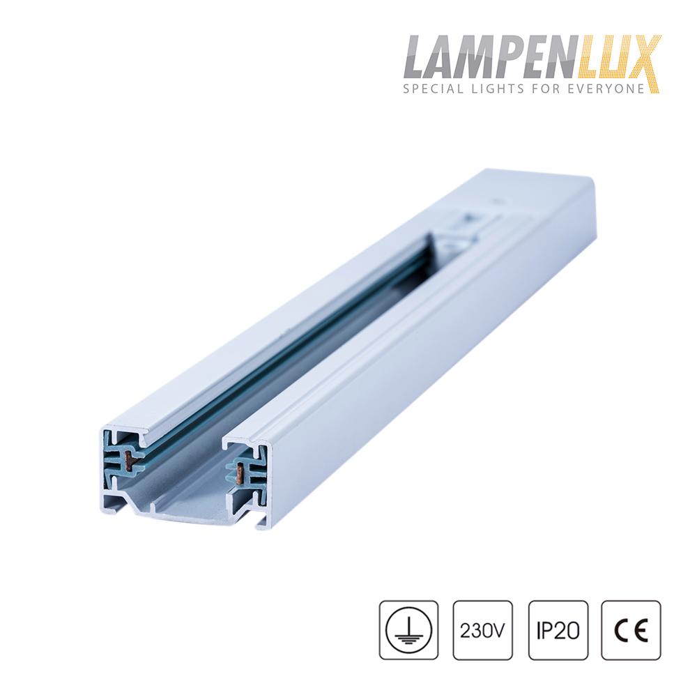 Lampenlux 1-Phasen Stromschiene Aufbauschiene und Zubehör