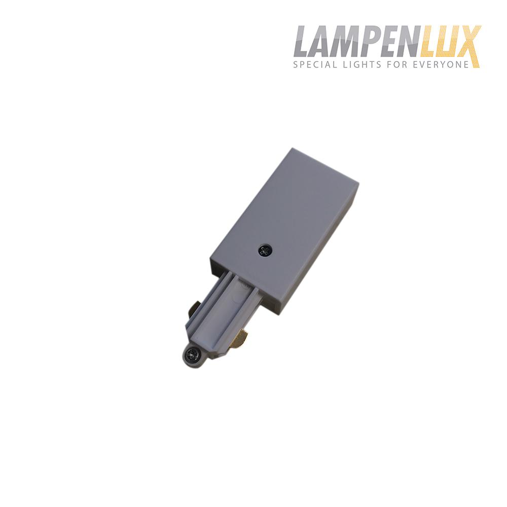 Lampenlux 1-Phasen Stromschiene Aufbauschiene und Zubehör (Einspeisung Links)