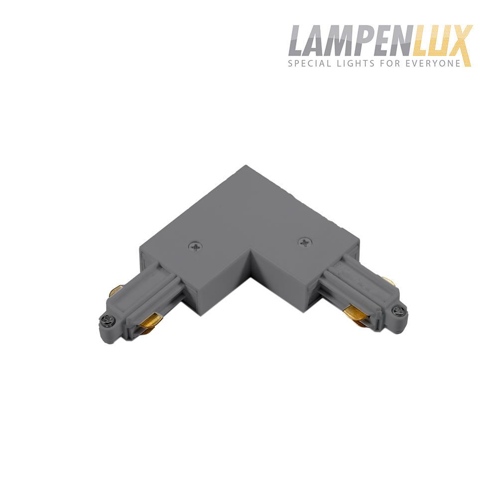 Lampenlux 1-Phasen Stromschiene Aufbauschiene und Zubehör (Eckverbinder Links)