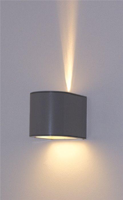 Lampenlux Wandlampe Gara Aussenleuchte Aluimium Terasse Effektlampe Licht Garten