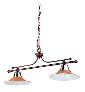 Lampenlux Hängelampe Hängeleuchte Anticas Keramikschirm braun E27 60W 230V