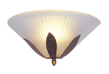 Lampenlux Wandlampe Paul AP Wandleuchte elegant Halbschale Ø30cm rost-bronze 40W