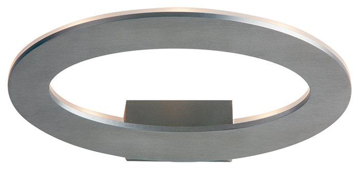 Lampenlux LED Aussen Wandlampe Wandleuchte Gabor Up Light Oval Grau 7W IP54 230V Aluminium