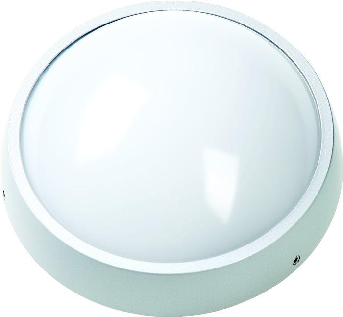 Lampenlux LED Badezimmer Deckenleuchte Kuso Rund 22cm 8W IP54 warmweiß 600 Lumen H: 7.1cm
