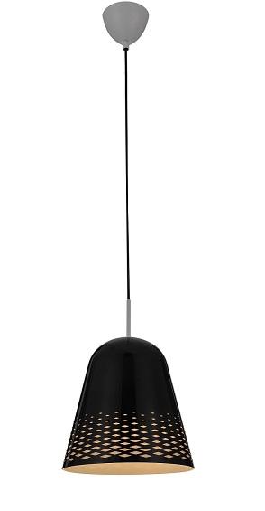 Lampenlux LED Pendelleuchte Loni Hängeleuchte Bauhaus Schwarz Höhenverstellbar