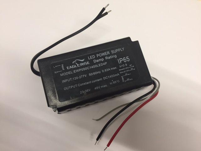 LED Trafo Eaglerise Transformator Treiber Driver 1400mA IP65 konstant, 23-36V regelbar