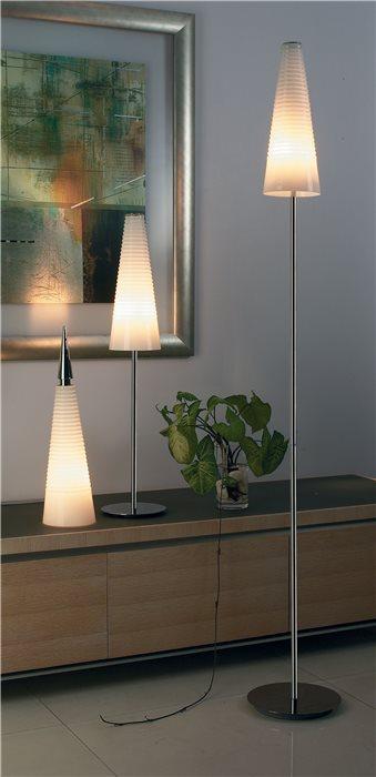 Lampenlux LED Tischlampe Anja Nachttischlampe Bettleuchte Stehlampe Weiß Opal