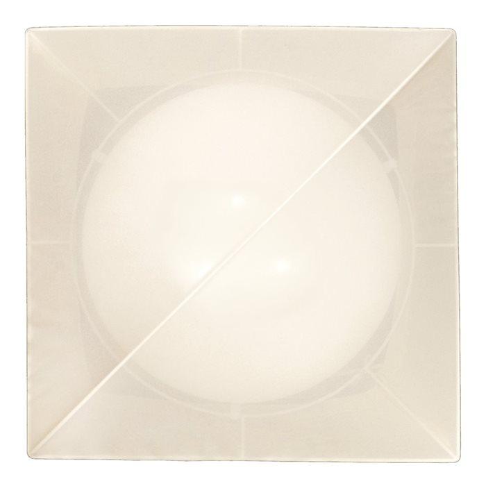 Lampenlux Deckenlampe Raja Stoffschirm Eckig EVG Energiesparlampe 45x45cm Beige Stoff Schirm