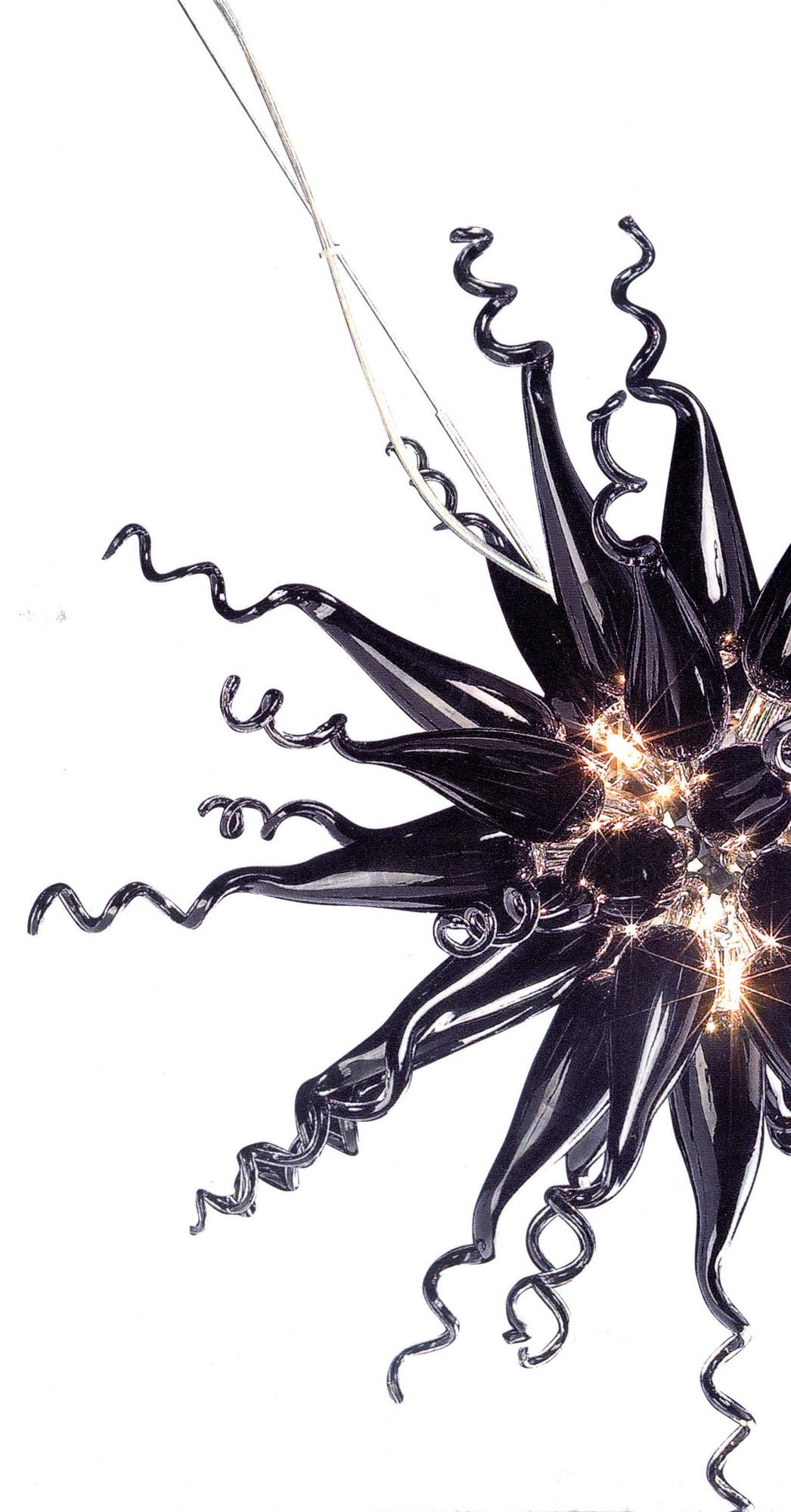 Lampenlux LED Pendellampe Hängeleuchte Luster Tamires 8 - flammig Glas G4