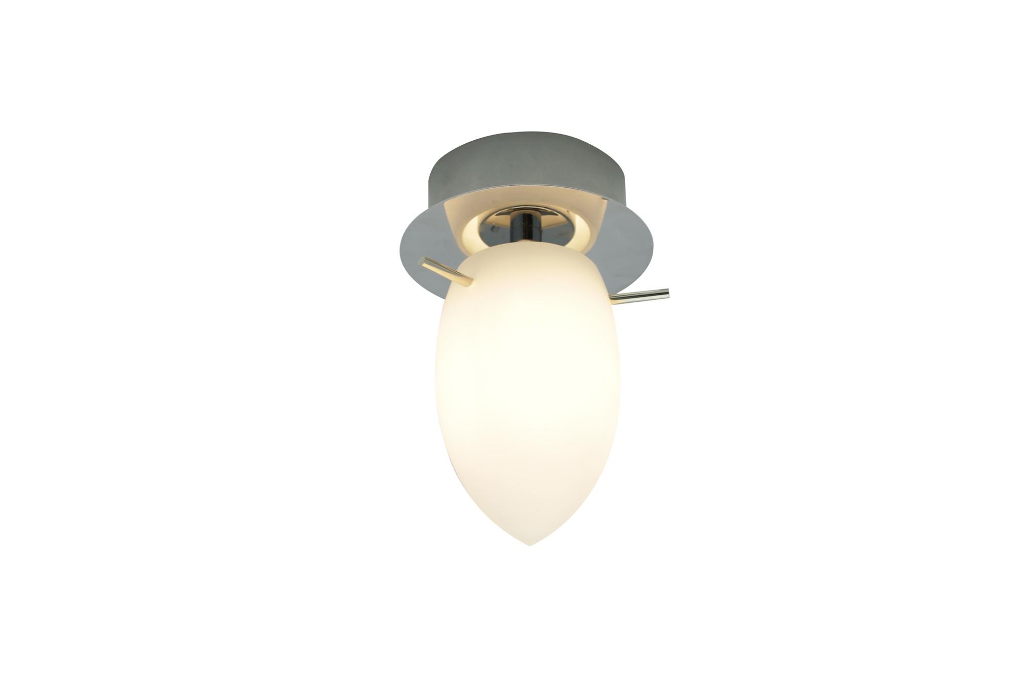 LED Deckenlampe Deckenleuchte Caluga Murano-Glas mundgeblasen Glasdurchmesser Ø 7 cm Chrom Deckenmontage Ø 10 cm