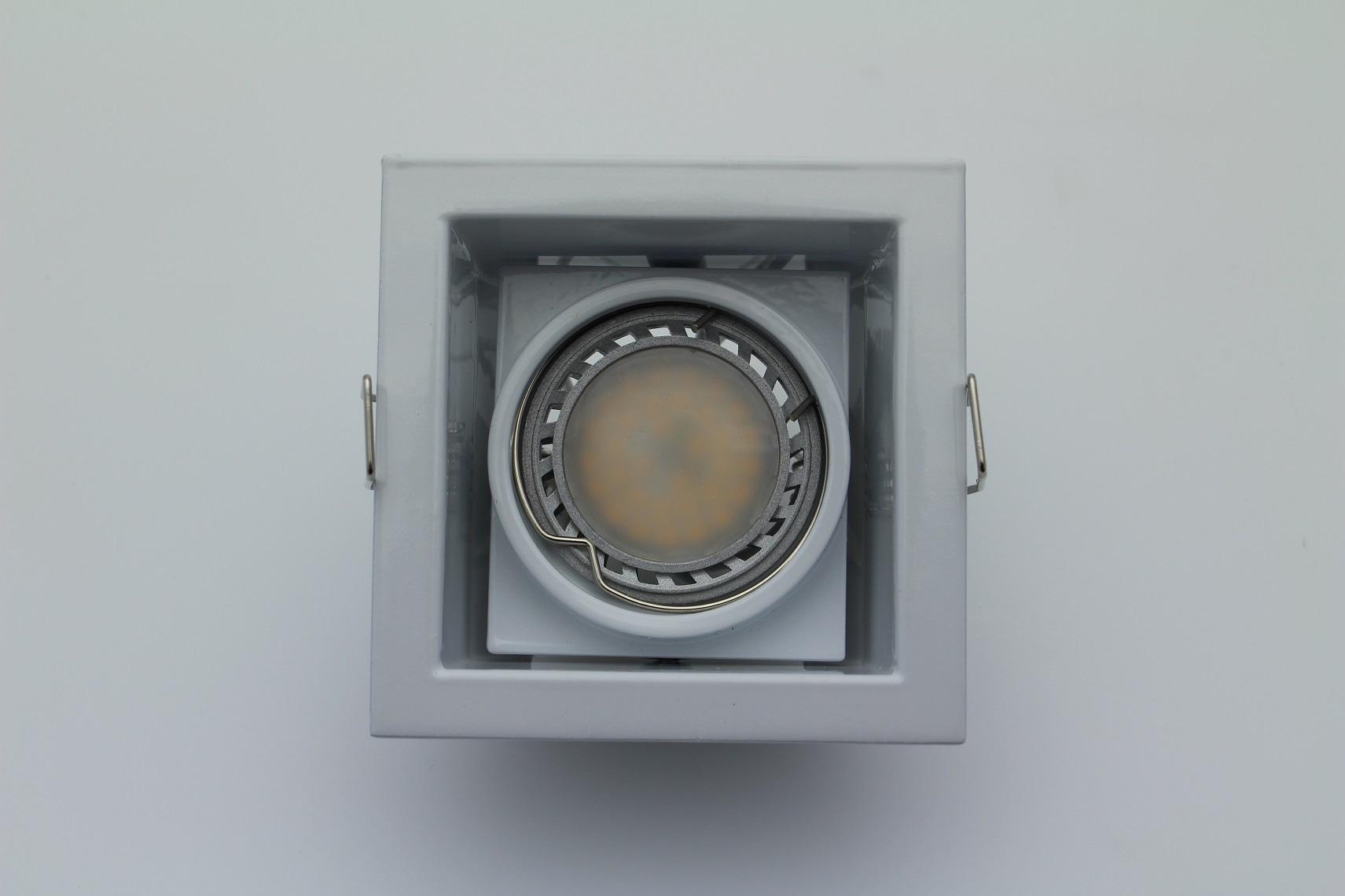 Lampenlux Einbaustrahler Spot Rocky weiß 30° schwenkbar GU10 230V 9.0x9.0cm rostfrei Einbauleuchte Einbaulampe Einbauspot Spot Strahler Punktstrahler Aluminium Downlight Down Deckeneinbaustrahler Deckeneinbauleuchte