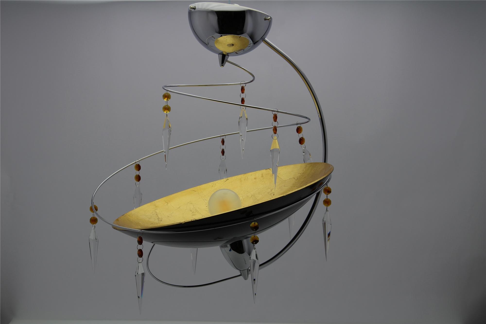 Lampenlux Designer Pendelleuchte Hängeleuchte Zoe Kristall Modern