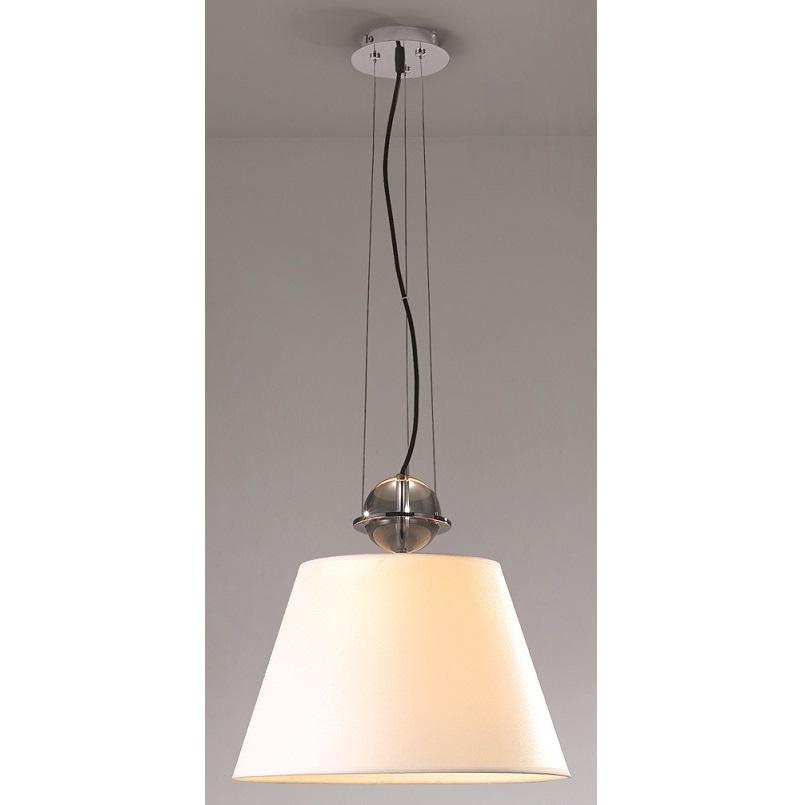 Lampenlux Deckenlampe Deckenleuchte Salamanka E27 60W mit Stoffschirm Ø 30 cm