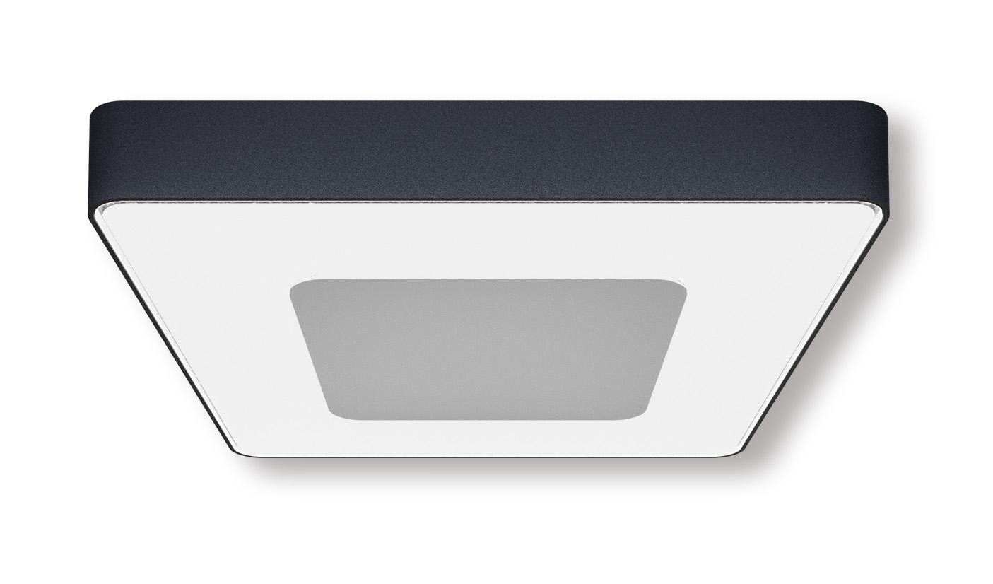 Lampenlux Außenleuchte Negra Aluminium Schwarz 2500lm 25W LED IP54