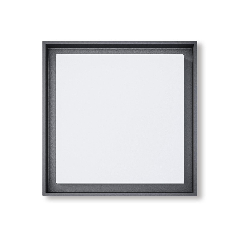 Lampenlux Außenleuchte Ryan Aluminium Schwarz 2500lm 25W LED 3000K IP54