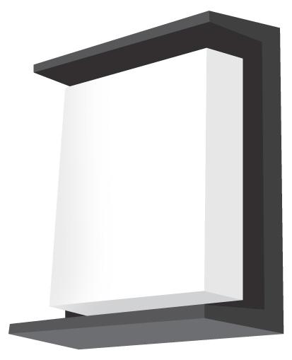 Lampenlux Außenleuchte Dean Aluminium Schwarz 800lm 10W LED 3000K IP54