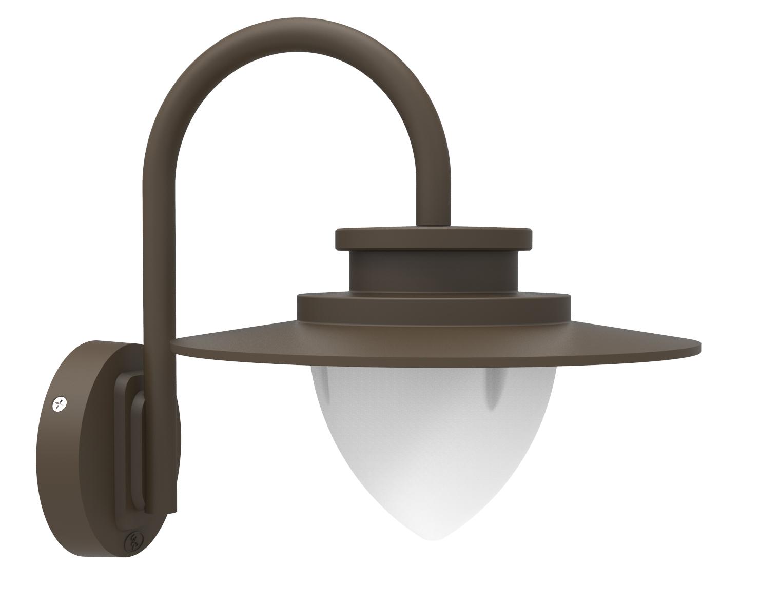 Lampenlux Außenleuchte Wandlampe Olivia 8,5W 3000K 450lm IP54