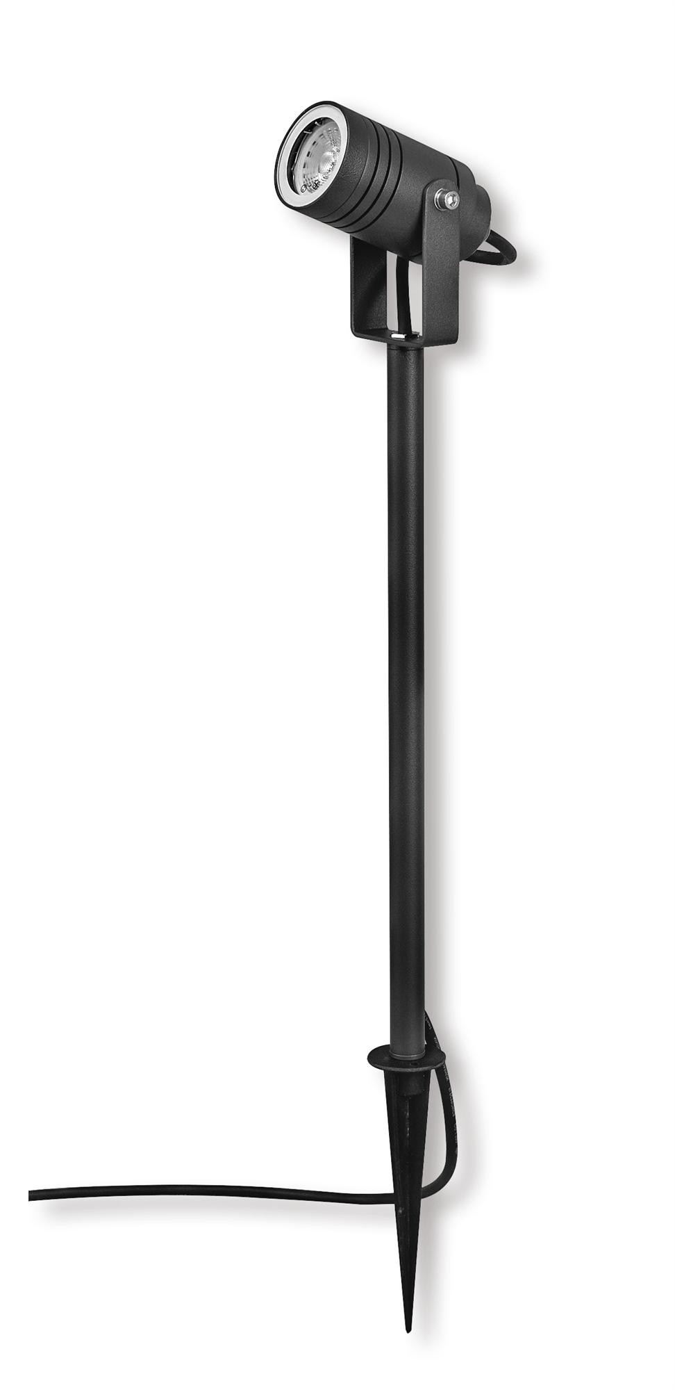 Lampenlux Außenleuchte Taura Aluminium Schwarz 500lm 7W LED 4000K IP65