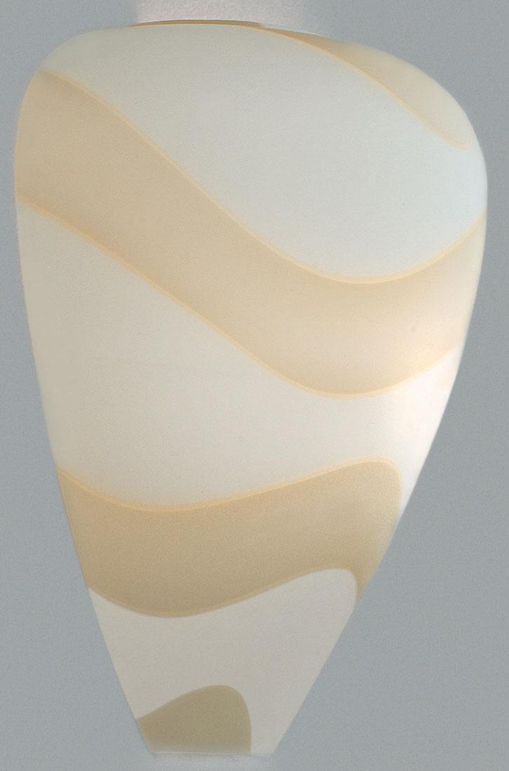 Lampenlux Wandleuchte Panasus Wandlampe Muranoglas Weiß Weiß R7s 150W