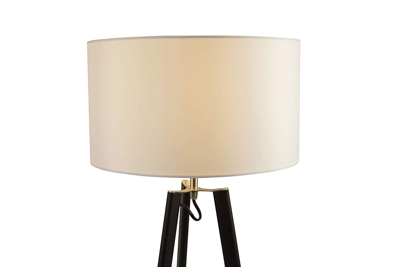 Lampenlux Tischleuchte Sanzur Stoffleuchte E27 60W Tischlampe LED Ø35cm