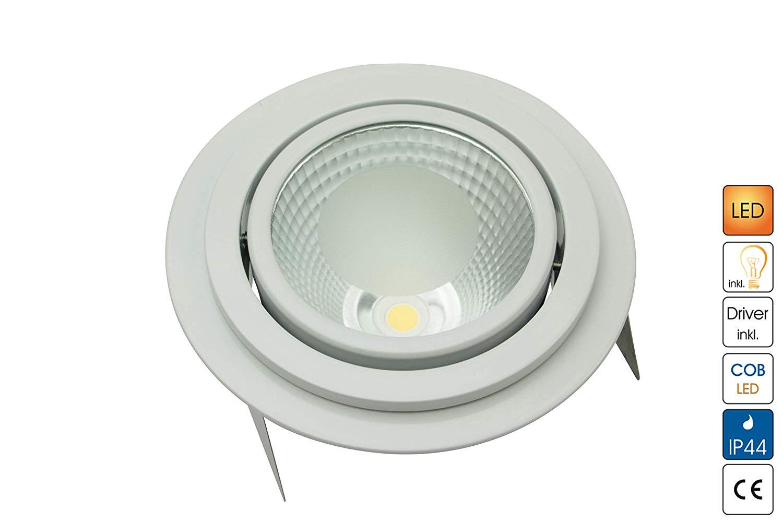 Lampenlux Business Edition Einbaustrahler Rasti LED Aussenleuchte rund schwenkbar IP44 9W