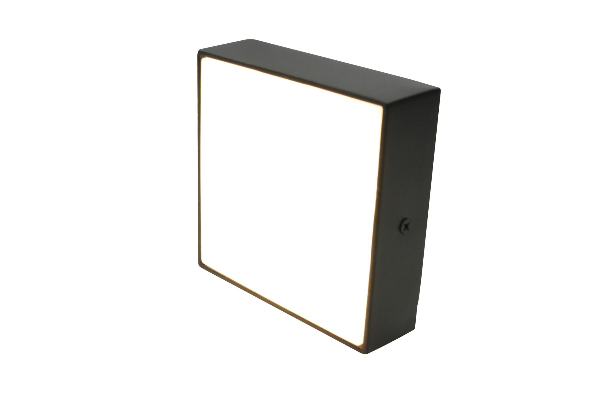 Lampenlux MINI Savona Deckenleuchte schwarz LED Deckenlampe WW 120mm