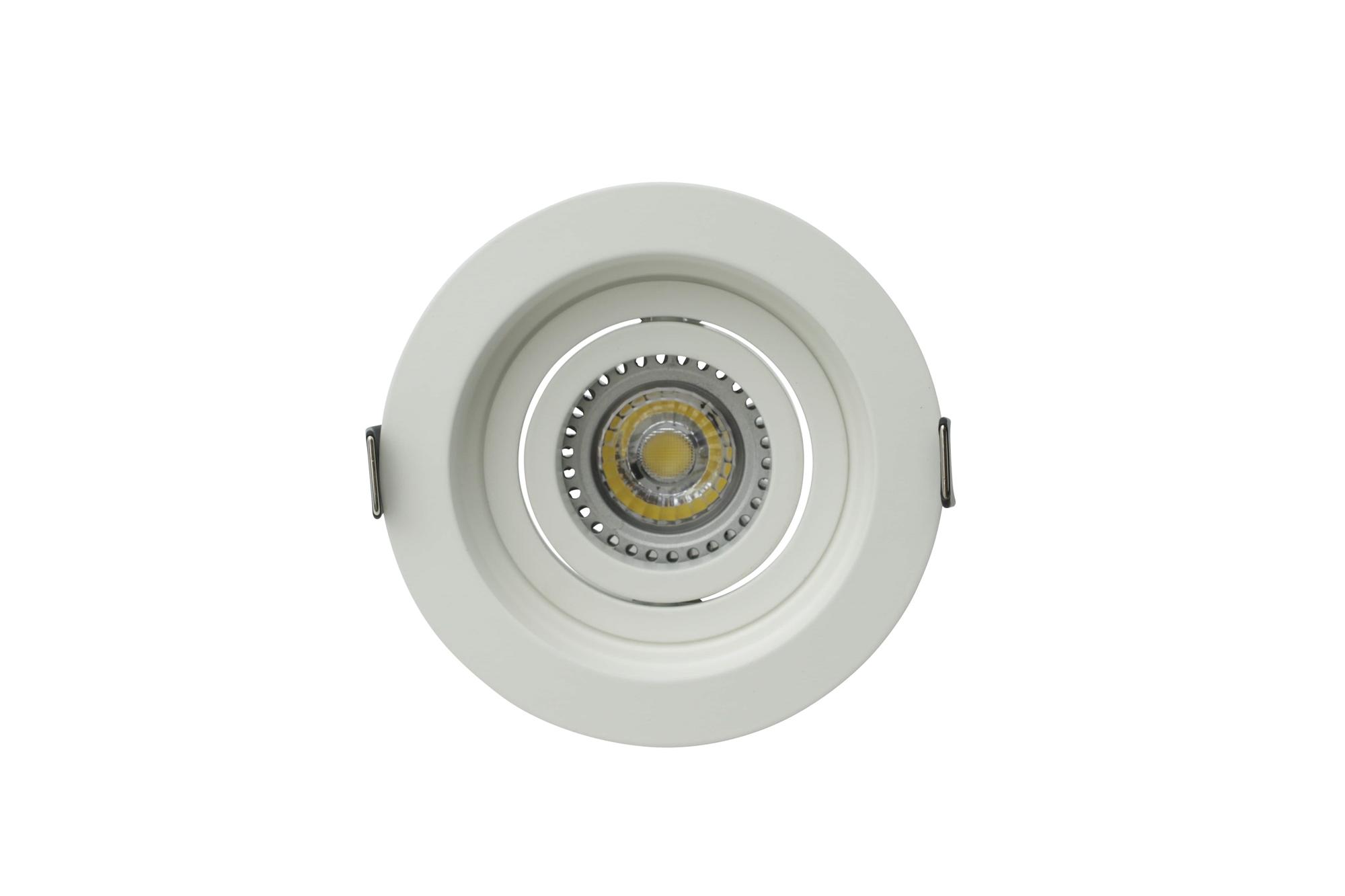 Lampenlux Einbaustrahler Sandi dreh- und schwenkbar Einbauspot Aluminium Downlight weiß ohne LED-Leuchtmittel