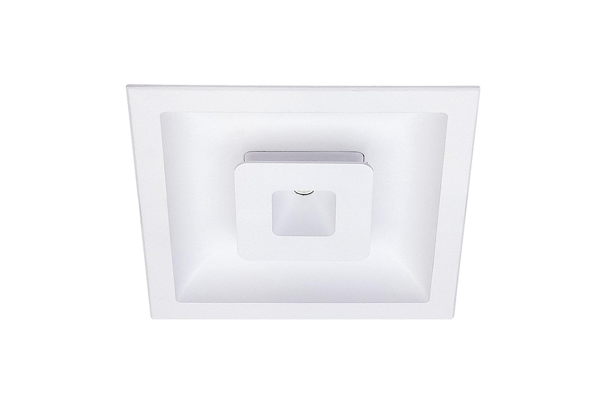 Lampenlux LED Einbaustrahler Sondor Spot eckig weiß inkl Trafo direkte und indirekte Beleuchtung Aluminium