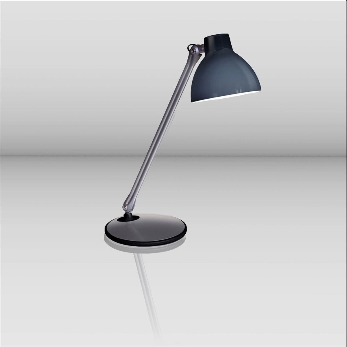 Lampenlux LED Tischlampe Selene schwenkbar drehbar Bürolampe mit Schalter E27 4W