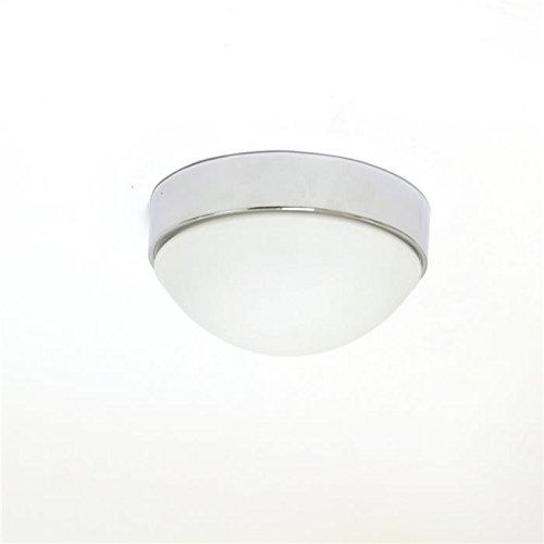Lampenlux Deckenlampe Deckenleuchte Aki Glasschirm Chrom Ø 19cm Glas Schirm
