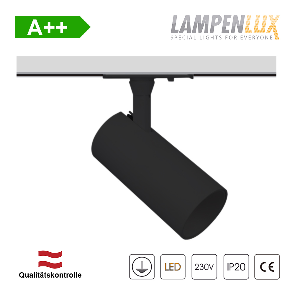 Lampenlux LED Deckenlampe Roberta passend für 1-Phasen Schienensystem Deckenleuchte 5,5W GU10